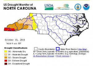 Map by NC Drought Management Advisory Council