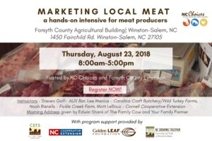 Cover photo for Register Now! Marketing Local Meat | An NC Choices Intensive | 8.23.18