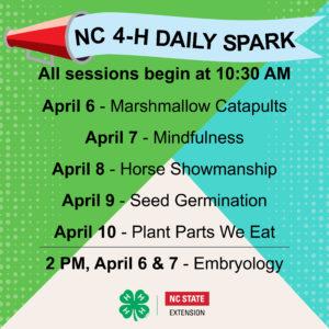 NC 4-H Daily Spark - April 6-10