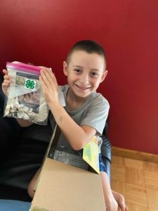 Cover photo for Local 4-H'ers Enjoy Care Packages