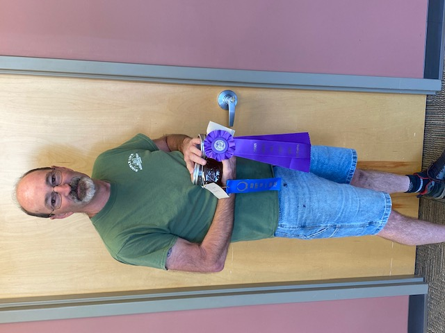 Alan Wamsley with his prize winning honey