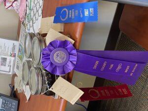 Ribbons won at local fair